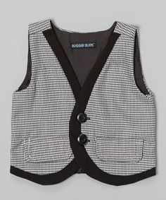 Another great find on #zulily! Black Cooper Vest - Infant by RuggedButts #zulilyfinds