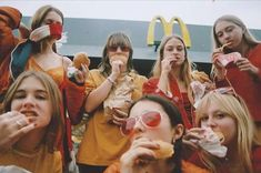 McDonalds Girl Gang: A Fast Food And Fashion Photo Project By Young Creative Millicient Clough Mcdonalds, Tommy Hilfiger Sneaker, Big Mac, Retro Aesthetic, Girl Gang Aesthetic, Teenage Dream, Gal Pal, Jolie Photo, Best Friend Goals