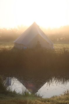Camping in the early morning light.