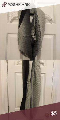 Black and grey infinity scarf Black and grey infinity scarf, great condition and gently used. Accessories Scarves & Wraps