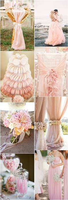 pink wedding ideas-blush wedding color ideas