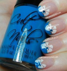 Cult Nails Party Time French Tip Nail Art Look @Cindy Ly Nails