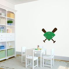Baseball Diamond - Sports - Vinyl Wall Art Decal for Homes, Kids Rooms, Nurseries, Preschools, Kindergartens, Elementary Schools, Middle Schools, High Schools, Universities, Colleges