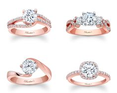 27 Gorgeous Rose Gold Engagement Rings - Rose gold is so pretty! Maybe for an anniversary ring :-)