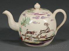 Wedgwood Queen's Ware Teapot and a Cover