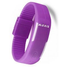 >> Click to Buy << ALEXIS Sporty Casual  LED Display Rectangular Violet Watchcase Silicone Jelly Rubber Violet Band Men Women Digital Watch DW447B #Affiliate
