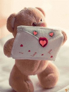 Happy Teddy Bear Day, Cute Teddy Bear Pics, Teddy Bear Pictures, My Teddy Bear, Tatty Teddy, Love You Images, Cute Images, Animated Cartoons, Animated Gif