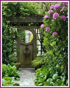 Dreamy garden doors. gardening. garden door. gate.garden gate.