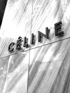 Celine store architecture  - Inspiration for house exterior house number. Black on marble.