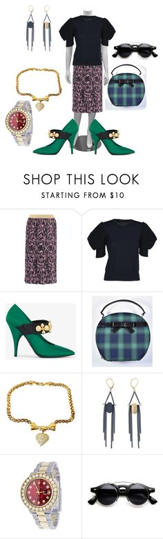 """Untitled #8437"" by billyblaze ❤ liked on Polyvore featuring Gucci, Junya Watanabe, Prada, Voodoo Vixen, Nina Ricci and Rolex"