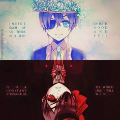 Find images and videos about anime, black butler and anime boys on We Heart It - the app to get lost in what you love. Black Butler Sebastian, Black Butler Ciel, Black Butler Kuroshitsuji, Black Butler Quotes, Black Butler Funny, Ciel Phantomhive, Vocaloid, Sad Anime Quotes, Otaku