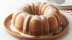 This rich cake is inspired by the flavors of holiday eggnog, topped with a sweet nutmeg glaze. Even if you're not an eggnog lover (and especially if you are!), you'll adore this cake! Holiday Baking, Christmas Desserts, Christmas Baking, Christmas Foods, Christmas Cakes, Tube Cake Pan, Rich Cake, Holiday Recipes, Christmas Recipes