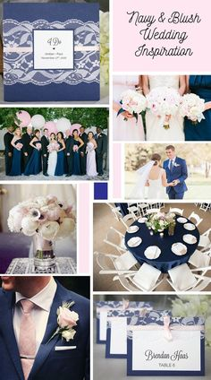 Navy & blush wedding inspiration. Navy and blush lace wedding invitations and escort cards by always, by amber