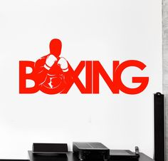 Vinyl Wall Decal Sport Boxer Boxing Gym Fighter Fight Stickers Unique Gift (713ig)