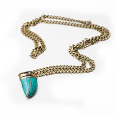 Double Chain Horn Necklace... cute idea for a 'something blue'