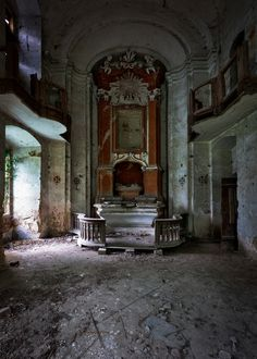 Chapel of an abandoned castle, somewhere in Austria by thebrokenview