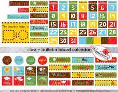 Klasse Brett Kalender Clipart SET: (300 dpi) Schule Lehrer Clip Kunstkalender Wetter Diagramm heute Digital