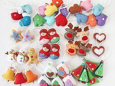 Елочные игрушки из фетра снова В НАЛИЧИИ | Ярмарка Мастеров - ручная работа, handmade