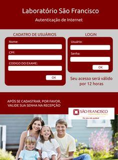 Sistema de Captive Portal para autenticação e liberação de usuarios de acesso a internet. Laboratório São Francisco. SBS/SC. By. JOJOB Soluções.