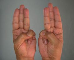 Mudras are certain hand positions that are designed to stimulate different parts of your body and mind. Health And Beauty, Health And Wellness, Health Tips, Health Fitness, Runny Nose Remedies, Hand Mudras, Watery Eyes, Excessive Sweating, Diet