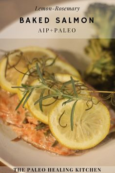 This Lemon Rosemary Baked Salmon is quick and easy to prepare and it is also delicious and healthy. A great side for this is garlic-lime broccoli which can be cooked on the same pan with the same time and temperature settings. Salmon And Broccoli, Broccoli Bake, Lemon Salmon, Baked Salmon, Breakfast Recipes, Dinner Recipes, Clean Eating Recipes, Paleo Recipes, Baking