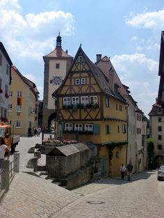 Rothenburg ob der Tauber  I was there during Christmas! It was magical and really cold! I'd love to go back