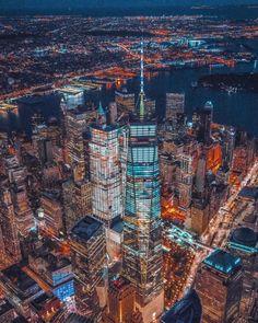 Flying over Manhattan by @212sid @chief770 @shunsky_nyc - New York City Feelings