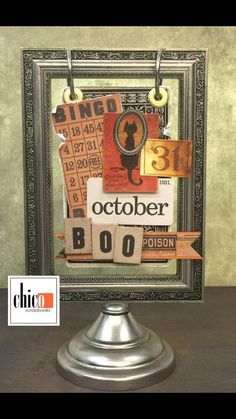 Tim Holtz Holiday Flip Frame class Oct. 10th at Chico Scrapbooks