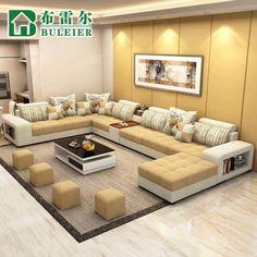 modern corner sofa set design for living room 2019 Corner Sofa Design, Corner Sofa Set, Sofa Bed Design, Living Room Sofa Design, Home Living Room, Living Room Designs, Living Room Decor, Home Decor Furniture, Sofa Furniture