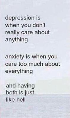 Anxiety should just suck it up ... love