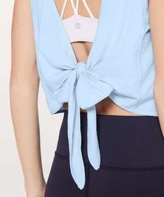 9cb1e8407a2cc3 Details about Lululemon Women's It's A Tie Tank Top BREE Breezy Blue
