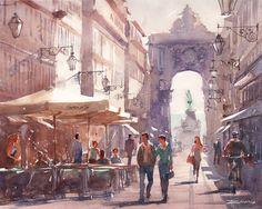 ARTIST SPOTLIGHT: Renato Palmuti. Lisbon Watercolors > stunning #watercolor #art