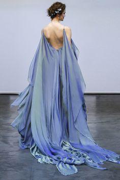 Carol Hannah | Ianassa Gown | Iridescent silk chiffon wave gown in Moray