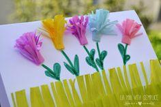 Biglietto creativo per Pasqua con carta velina e cartoncino