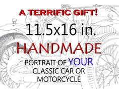 Custom Art Motorcycles portraits  Portraits of YOUR by drawspots, $212.00