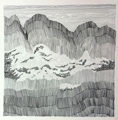 Ink drawing on paper. ©2013 Lena Ohlén (sold)