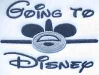 Going To Disney Embroidery Design | Apex Embroidery Designs, Monogram Fonts & Alphabets