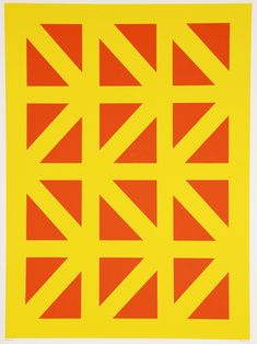 Paterson Ewen, Untitled, 1967, silkscreen, 66.5 x 50.9 cm, Museum London. The rigid lines of this work are a striking contrast to the looser ones in Untitled, 1960. Hyperstructured works like this one coincide with periods of instability in Ewen's life. #ArtCanInstitute #CanadianArt Canadian Artists, Printmaking, Landscape Paintings, Book Art, Contrast, Museum, London, Life, Printing