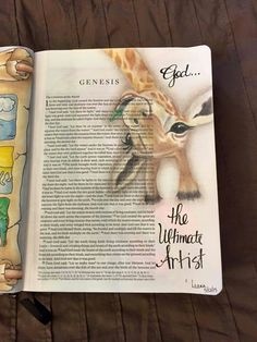 This is such an adorable example of a Bible Journal entry! Faith Bible, My Bible, Bible Art, Bible Scriptures, Bible Study Journal, Scripture Study, Art Journaling, Scripture Journal, Journal Art