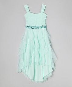http://www.zulily.com/invite/vhanson979 Another great find on #zulily! Mint Rhinestone Sweetheart Dress - Girls #zulilyfinds