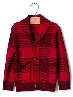 Gap Buffalo plaid shawl cardigan $49.95