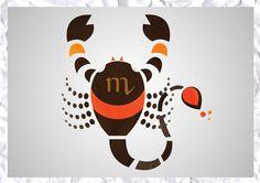 Scorpio sign Art Print