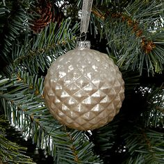 Buy John Lewis Textured Bauble, Champagne Gold Online at johnlewis.com