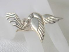 #Vintage Sterling #Silver Nesting #Bird #Brooch Pin Mexico  $35 http://www.rubylane.com/item/469850-153-15/Vintage-Sterling-Silver-Nesting-Bird