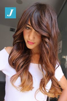 We have rounded up best styles of long hairstyles with gorgeous balayage hair color Hair Color Balayage, Hair Highlights, Ombre Hair, Brown Blonde Hair, Brunette Hair, Front Hair Styles, Curly Hair Styles, Hair Front, Pelo Color Caramelo