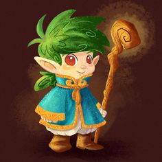 Little elf wizard