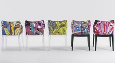 Madame World of Emilio Pucci Edition is an armchair designed by Philippe Starck; upholstered in a limited edition print inspired by the city of Milan and designed by Pucci. Part of the same collection, Cities of the World by Emilio Pucci, are also versions inspired by the cities of Paris, Rome, Shanghai and New York. |  @emiliopucci @kartelldesign