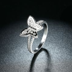 925 Silver Wedding Hall Promise Ring with Clear CZ UK Sale