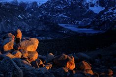 Bringing in the sunset high in the Wind River Range, Wyoming.