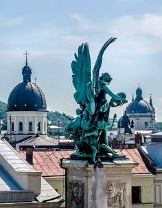 Roofs of Lviv, Ukraine.